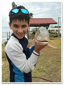 Rockport Texas Fishing boy